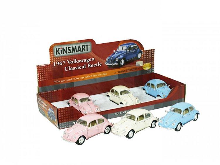 Leksaksbil stor Volkswagen classical beetle rosa