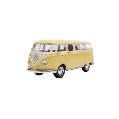 Leksaksbil stor Volkswagen pastell buss gul