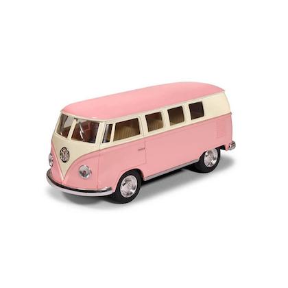 Leksaksbil stor Volkswagen pastell buss rosa