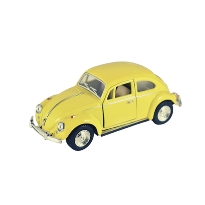 Leksaksbil mellan Volkswagen classical beetle gul