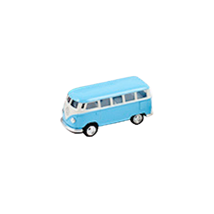 Leksaksbil Volkswagen pastell bus mini blå
