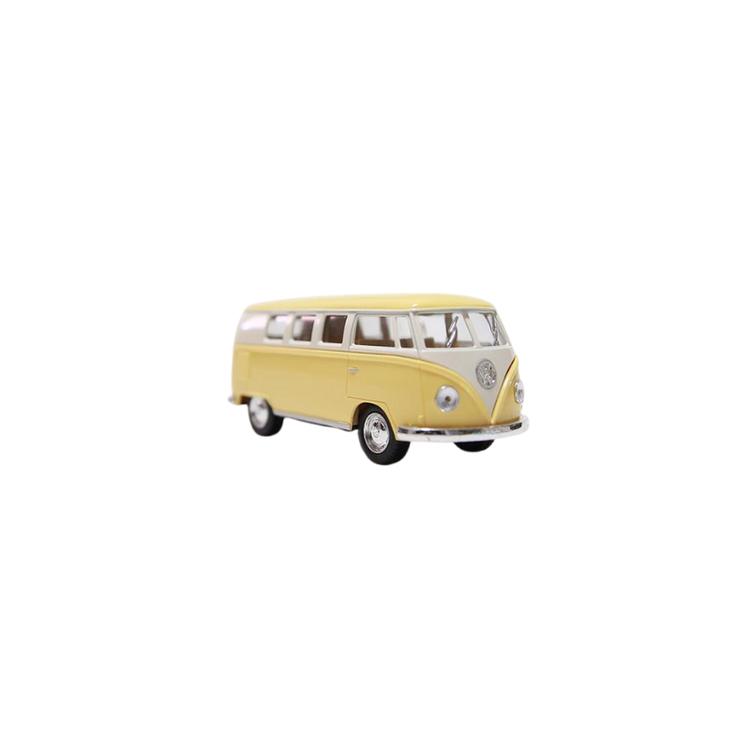 Leksaksbil Volkswagen pastell bus mini gul