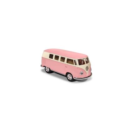 Leksaksbil Volkswagen pastell bus mini rosa