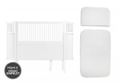 Sebra, paket Sebra vit säng inkl.madrass