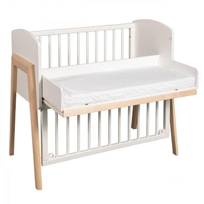 Troll, bedside crib vit/natur