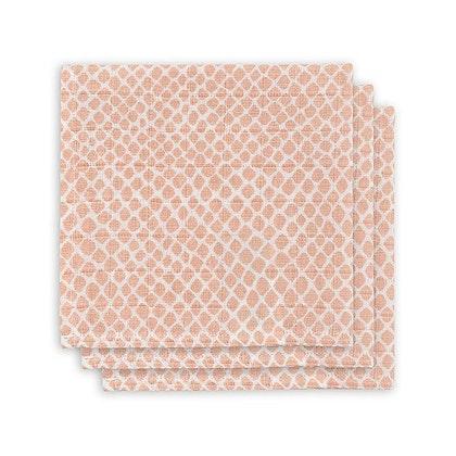 Jollein, snuttefilt snake pale pink, 3-pack