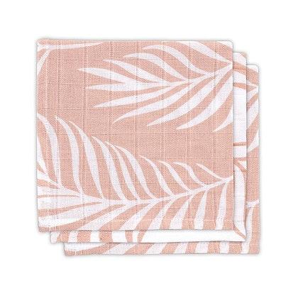 Jollein, snuttefilt nature pale pink, 3-pack