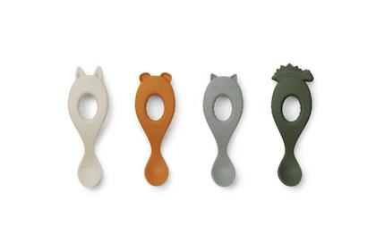 Liewood, silikon sked 4-pack, hunter green