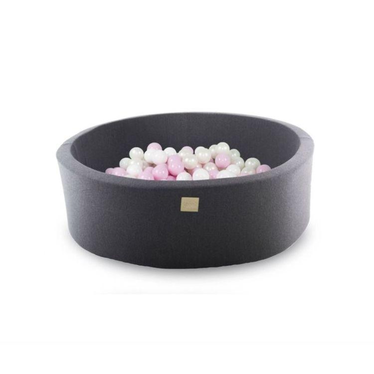 Meow, mörkgrå bollhav med 200 bollar, Pretty Pink