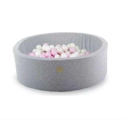 Meow, ljusgrå bollhav med 200 bollar, Pretty Pink