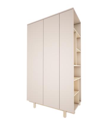 Woodluck, garderob med bokhylla , BASIC