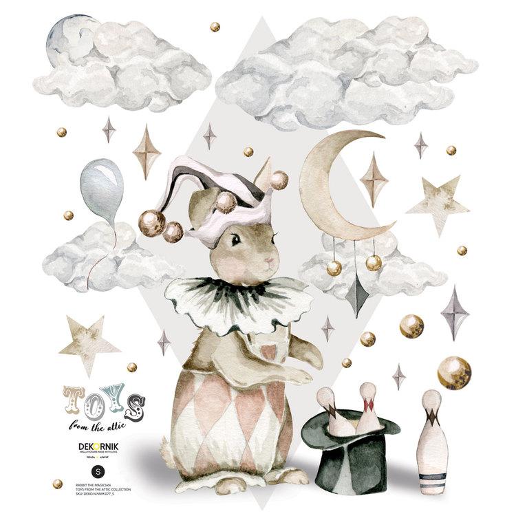 Dekornik, väggklistermärken- Rabbit the magician