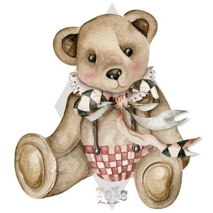 Dekornik, väggklistermärken- Big Theodore bear