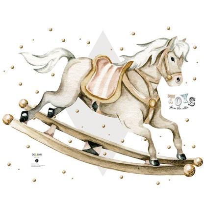 Dekornik, väggklistermärken- Rocking Horse