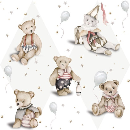 Dekornik, Tapet Teddy Bears french