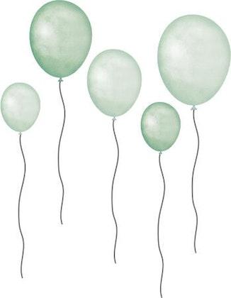 That`s Mine väggklistermärken ballonger 5-pack, mint