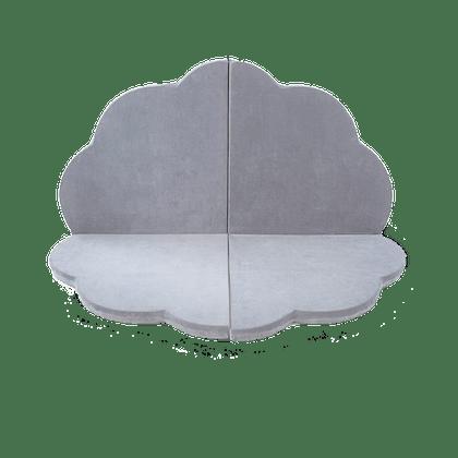 Misioo, Stor och flexibel lekmatta , light grey blomma