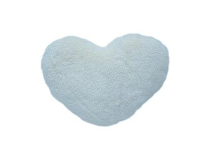 Hjärtkudde, vit