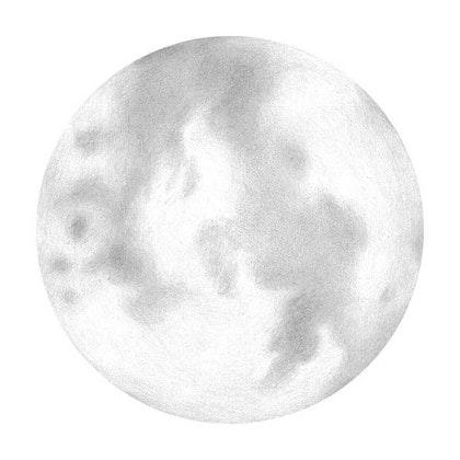 Vit fullmåne väggklistermärken, Stickstay