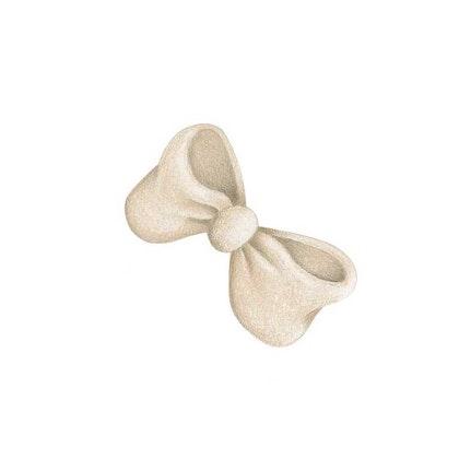 Stickstay beige rosett