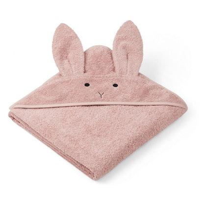 Liewood handuk med huva, Augusta Rabbit rose