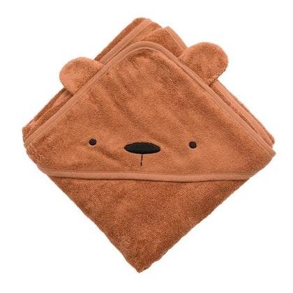 Sebra, terry handduk med huva, Milo the bear, sweet tea
