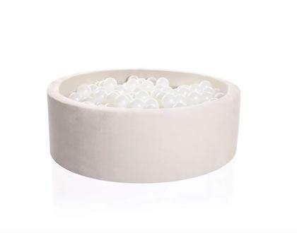 Kidkii Organic, beige bollhav 100x30 med 250 bollar