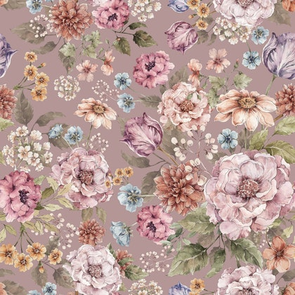 Dekornik, Tapet Bouquet of flowers- lilac