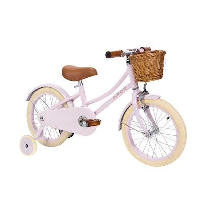 Banwood , rosa cykel med stödhjul , Classic