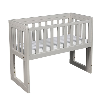 Troll, bedside crib, soft grey