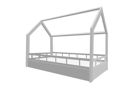 Hussäng med säkerhetsskena runt 90x200