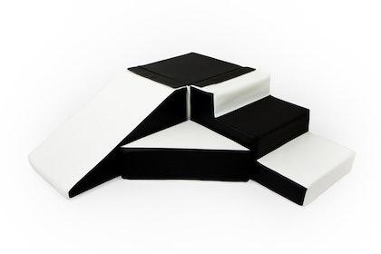 Byggbar rutschkana till barnrummet, svart/vit