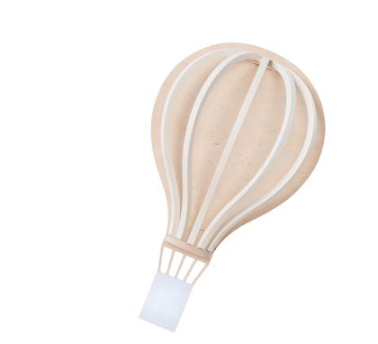 Up Warsaw, baloon luftballonglampa vit
