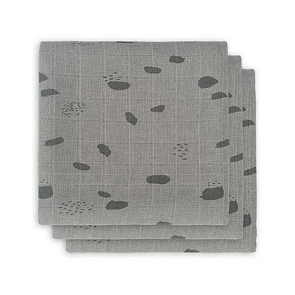 Jollein, snuttefilt spot storm grey, 3-pack