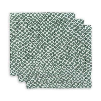 Jollein, snuttefilt ash green, 3-pack