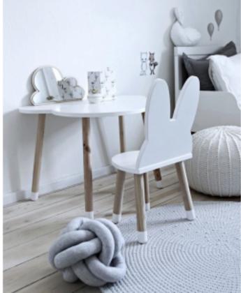 Möbelset 2 kaninstolar+ molnbord, Möbelset till barnrummet