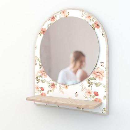 Dekornik, spegel floral vintage