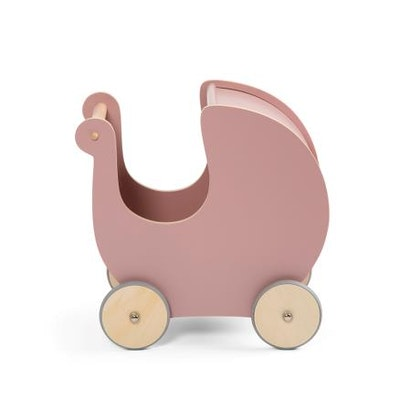 Sebra dockvagn i trä blossom pink