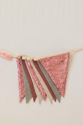 Moi Mili, vimpel med paljetter, rosa/grå