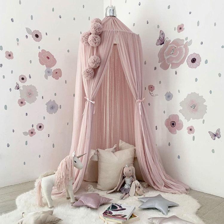 Spinkie Baby , sänghimmel Dreamy Pale Rose Silver