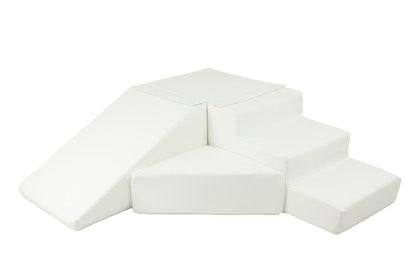 Byggbar vit rutschkana till barnrummet