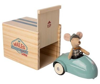 Maileg, mus med bil & garage
