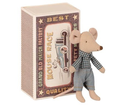Maileg, lillebror mus i låda