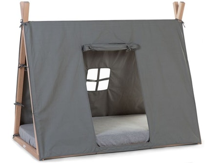 Childhome, sänggardin till tipisäng 70x140 cm, grey