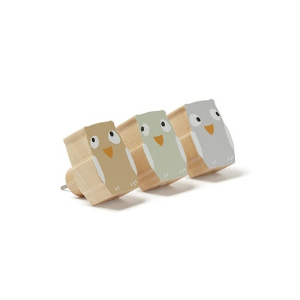 Kids Concept, 3-pack krokar uggla