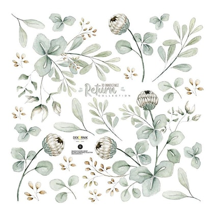 Dekornik, Väggklistermärken meadow flowers miniset