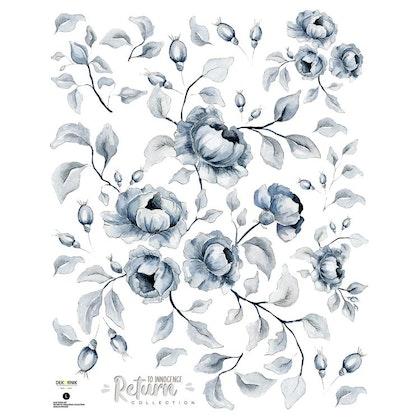 Dekornik, Väggklistermärken blue roses