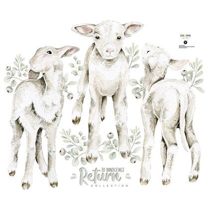 Dekornik, Väggklistermärken little lambs