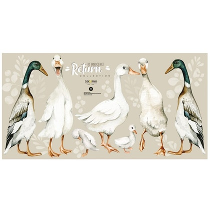 Dekornik, Väggklistermärken white ducks