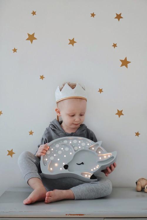 Nattlampa till barnrummet rådjur, Little Lights